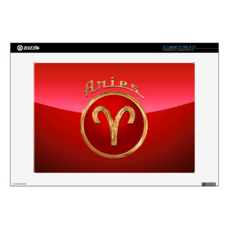 """Aries Zodiac Symbol Decal For 13"""" Laptop"""