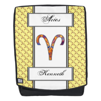 Aries Zodiac Symbol Element by Kenneth Yoncich Backpack