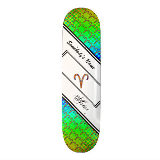 Aries Zodiac Symbol Element Skateboard