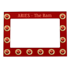 Aries Zodiac Symbol Magnetic Photo Frame