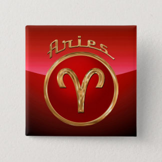 Aries Zodiac Symbol Pinback Button