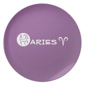 ARIES ZODIAC Symbol Party Plates