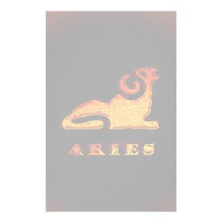 Aries Zodiac Symbol Stationery