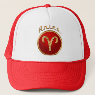 Aries Zodiac Symbol Trucker Hat