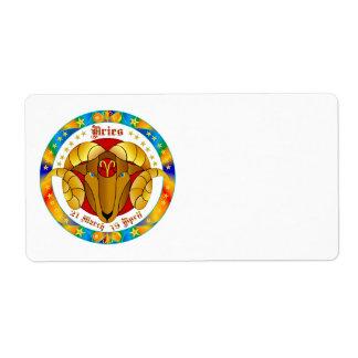 Aries Zodiac-V-1 Set-1 Label