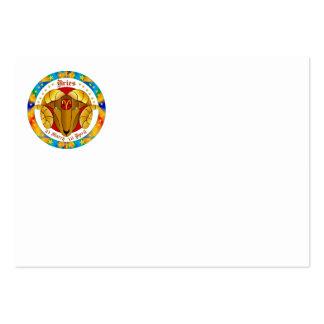 Aries Zodiac-V-1 Set-1 Plantillas De Tarjetas De Visita