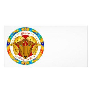 Aries Zodiac-V-1 Set-1 Tarjetas Fotográficas Personalizadas