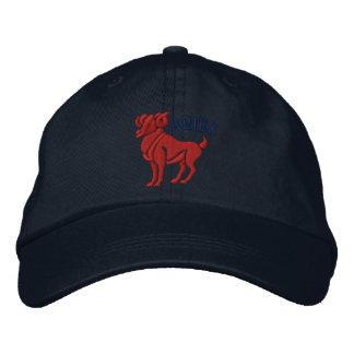 Aries zodiaco muestra bordado 21 de marzo - 19 de  gorra de béisbol bordada