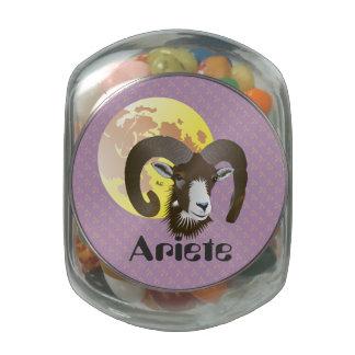 Ariete 21 marzo Al 20 April Bomboniera Glass Jar