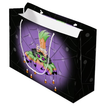 Halloween Themed ARIETTE SPIDER HALLOWEEN  GIFT BAG LARGE MATTE 2