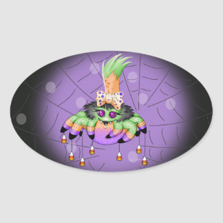 ARIETTE SPIDER Small 1½ inch sheet  20 OVAL M 3 Oval Sticker