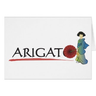 Arigato Lady Card