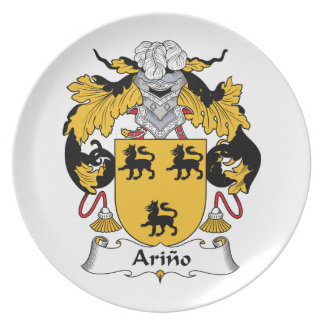 Arino Family Crest Party Plates