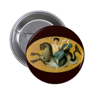 Arion On A Sea Horse Pinback Button