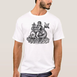 Arion riding the dolphin woodcut T-Shirt