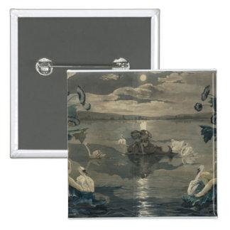 Arion's Sea Journey, 1809 2 Inch Square Button
