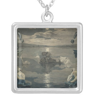 Arion's Sea Journey, 1809 Silver Plated Necklace