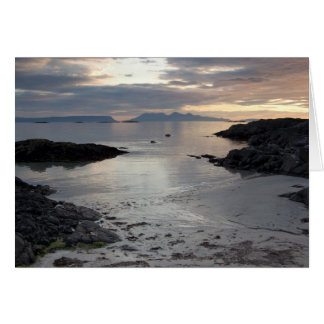 Arisaig beach with Inner Hebrides in distance Card