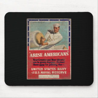 Arise Americans United States Navy Mouse Pad