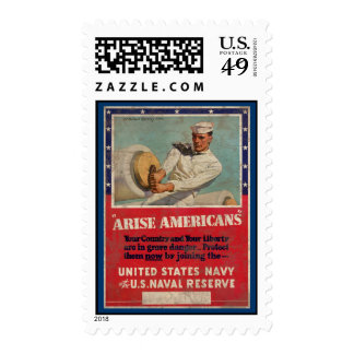 Arise Americans United States Navy Postage