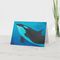 """Arise"" Killer Whale / Orca blank greeting cards"