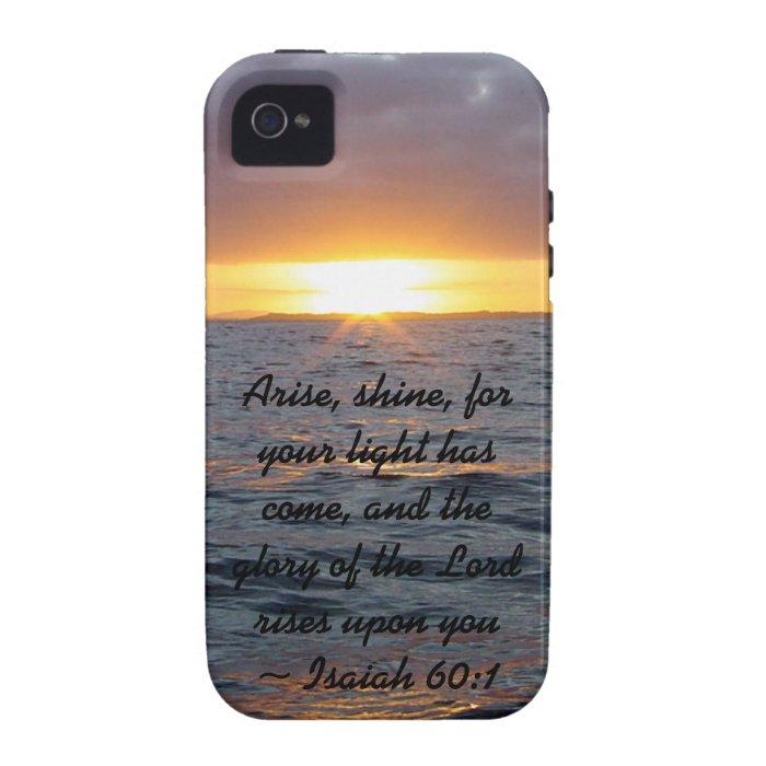 Arise Shine - Isaiah 60:1 Case-Mate iPhone 4 Cover
