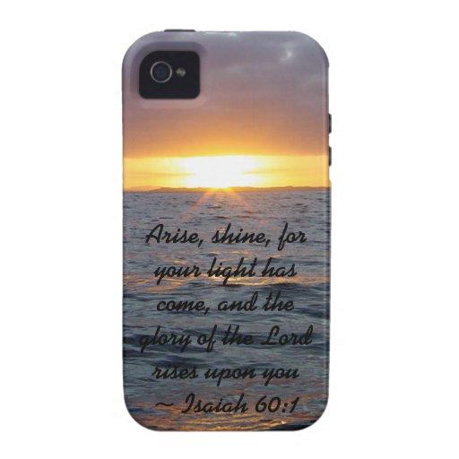 Arise Shine - Isaiah 60:1 iPhone 4/4S Covers