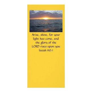 Arise Shine - Isaiah 60:1 Rack Card
