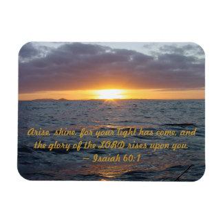 Arise Shine - Isaiah 60:1 Rectangular Photo Magnet