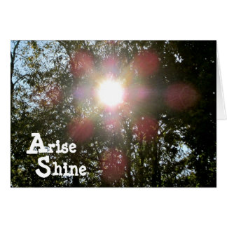 Arise Shine Isaiah 60 Christian card
