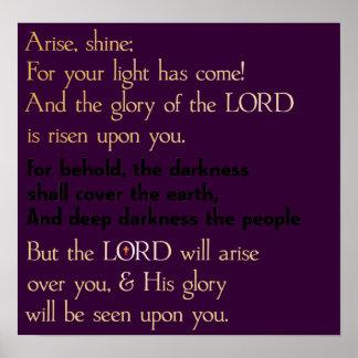 Arise & Shine Poster