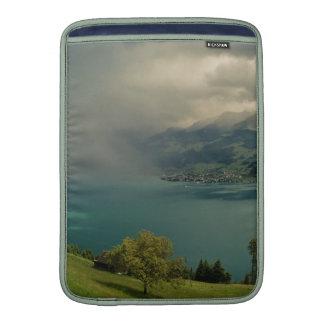 arising storm more over lake lucerne MacBook air sleeves