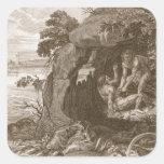 Aristeus Compels Proteus to Reveal his Oracles, 17 Square Sticker