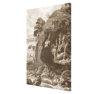 Aristeus obliga al proteus que revele sus oráculos impresion en lona