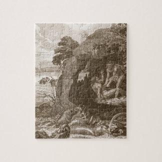 Aristeus obliga al proteus que revele sus oráculos rompecabezas con fotos