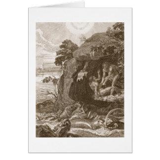 Aristeus obliga al proteus que revele sus oráculos tarjeta de felicitación