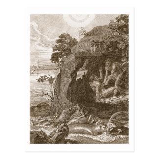 Aristeus obliga al proteus que revele sus tarjeta postal