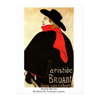 Aristide Bruant By Henri De Toulouse-Lautrec Postcard