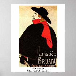 Aristide Bruant By Henri De Toulouse-Lautrec Poster