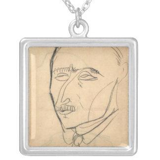 Aristide Sommati, c.1908 Square Pendant Necklace