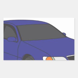 Aristo azul pegatina rectangular