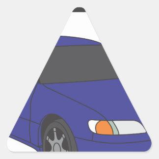 Aristo azul pegatina triangular