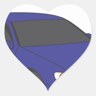 Aristo azul pegatina en forma de corazón