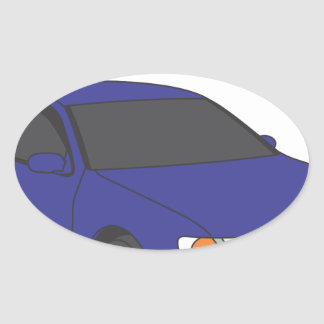 Aristo azul pegatina ovalada