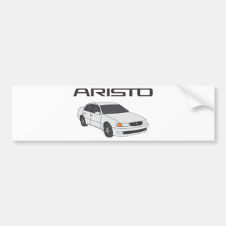 Aristo blanco pegatina para coche