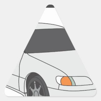 Aristo blanco pegatina triangular