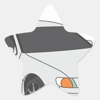 Aristo blanco pegatina en forma de estrella