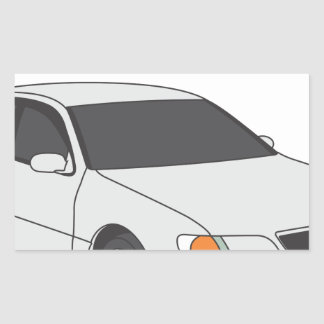 Aristo blanco pegatina rectangular