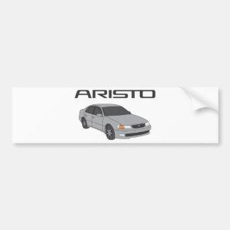 Aristo de plata pegatina para coche