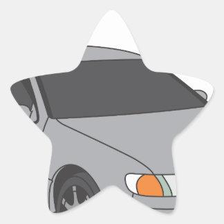 Aristo de plata pegatina en forma de estrella